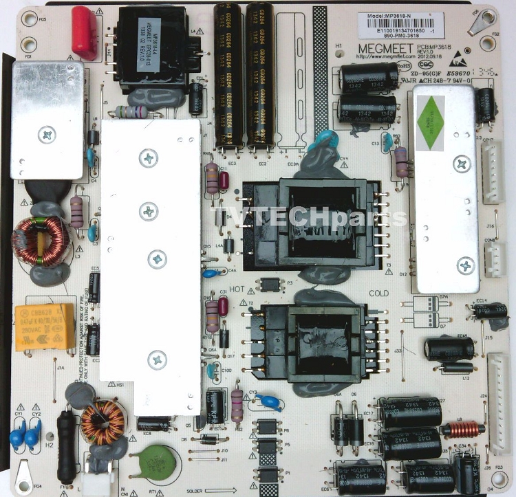 MP3618-N, 890-PM0-3618 Power Supply For Seiki SE39UY04