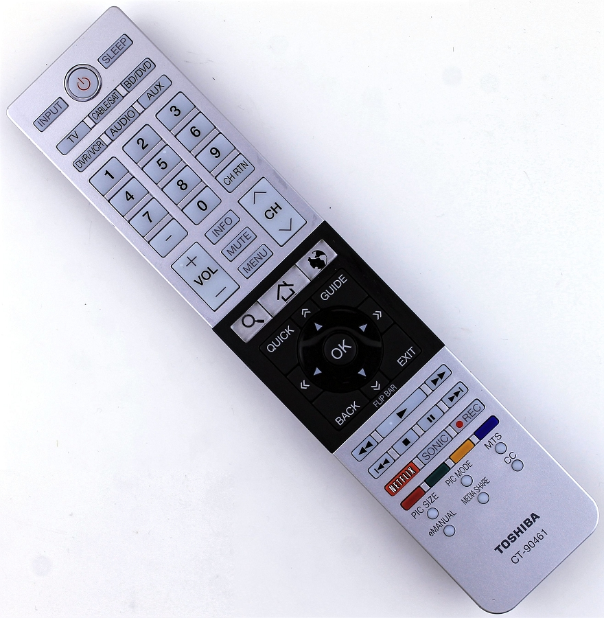 CT-90461 Toshiba Remote Control For TV Models 47L6200U