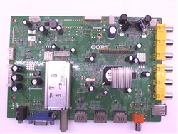 COBY TV Model TFDVD3299 Main Board Part Number 002-LT23-7612-00RDVD