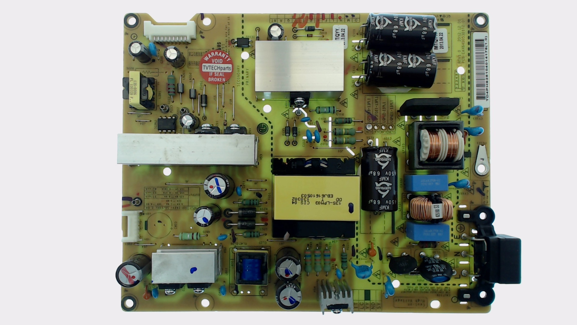 lg tv model 39ln5300 ub power supply board part number eay62810401. Black Bedroom Furniture Sets. Home Design Ideas
