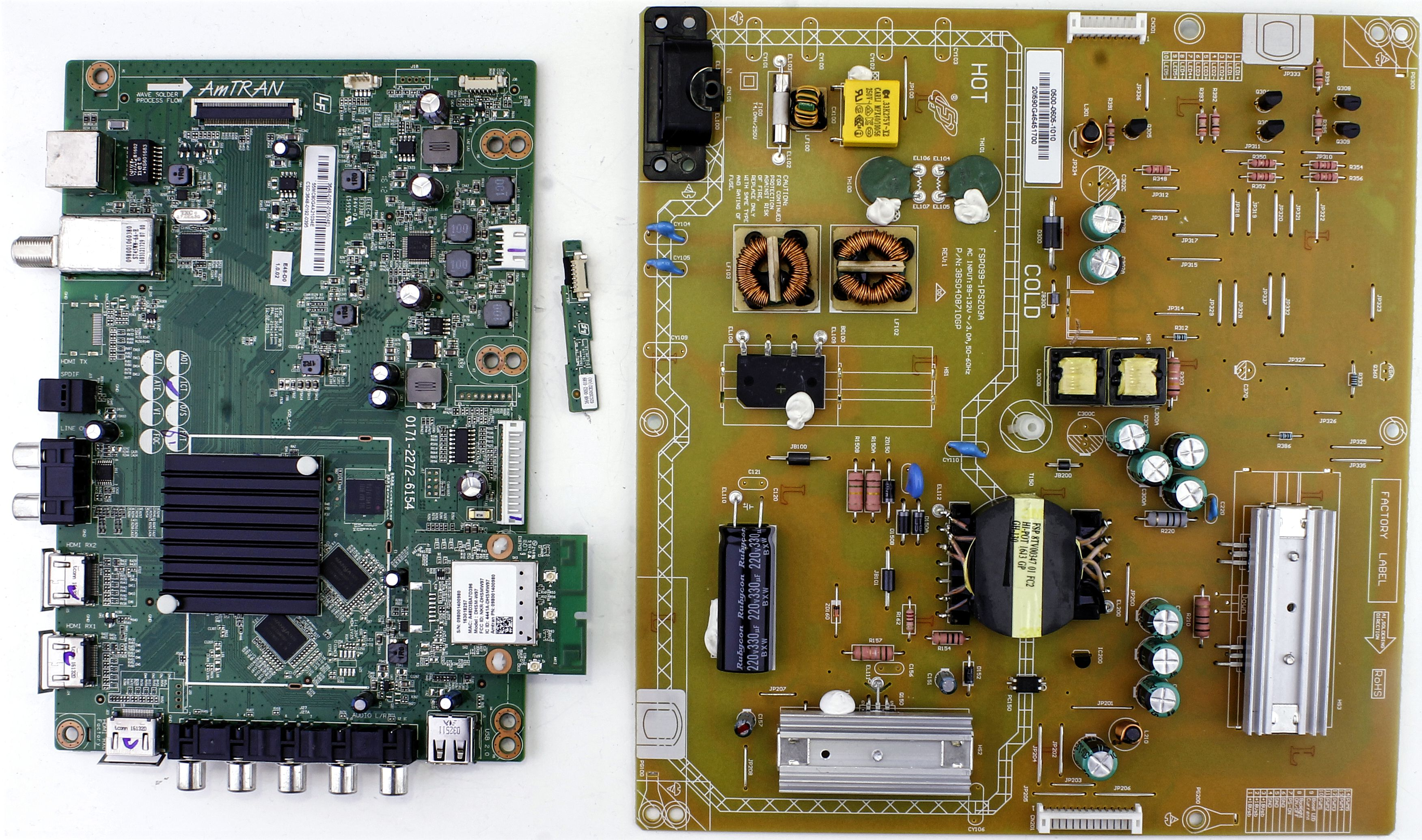 3648-0192-0395 Vizio board kit for TV model D48-D0
