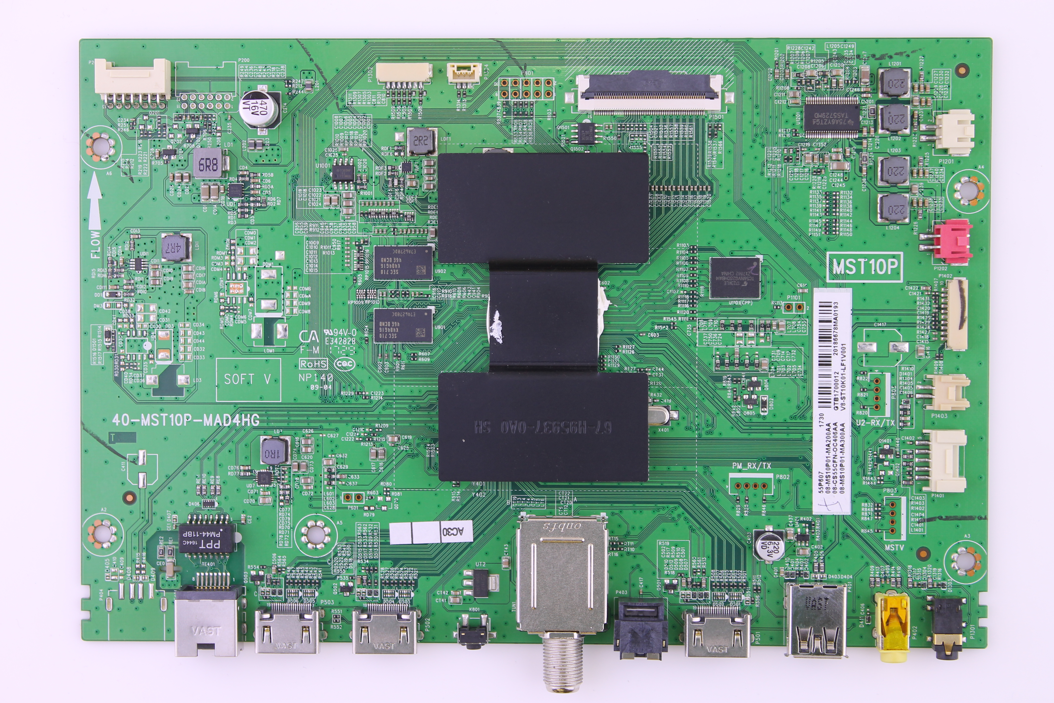 GTB1700012 TCL video board for TV model 55P607