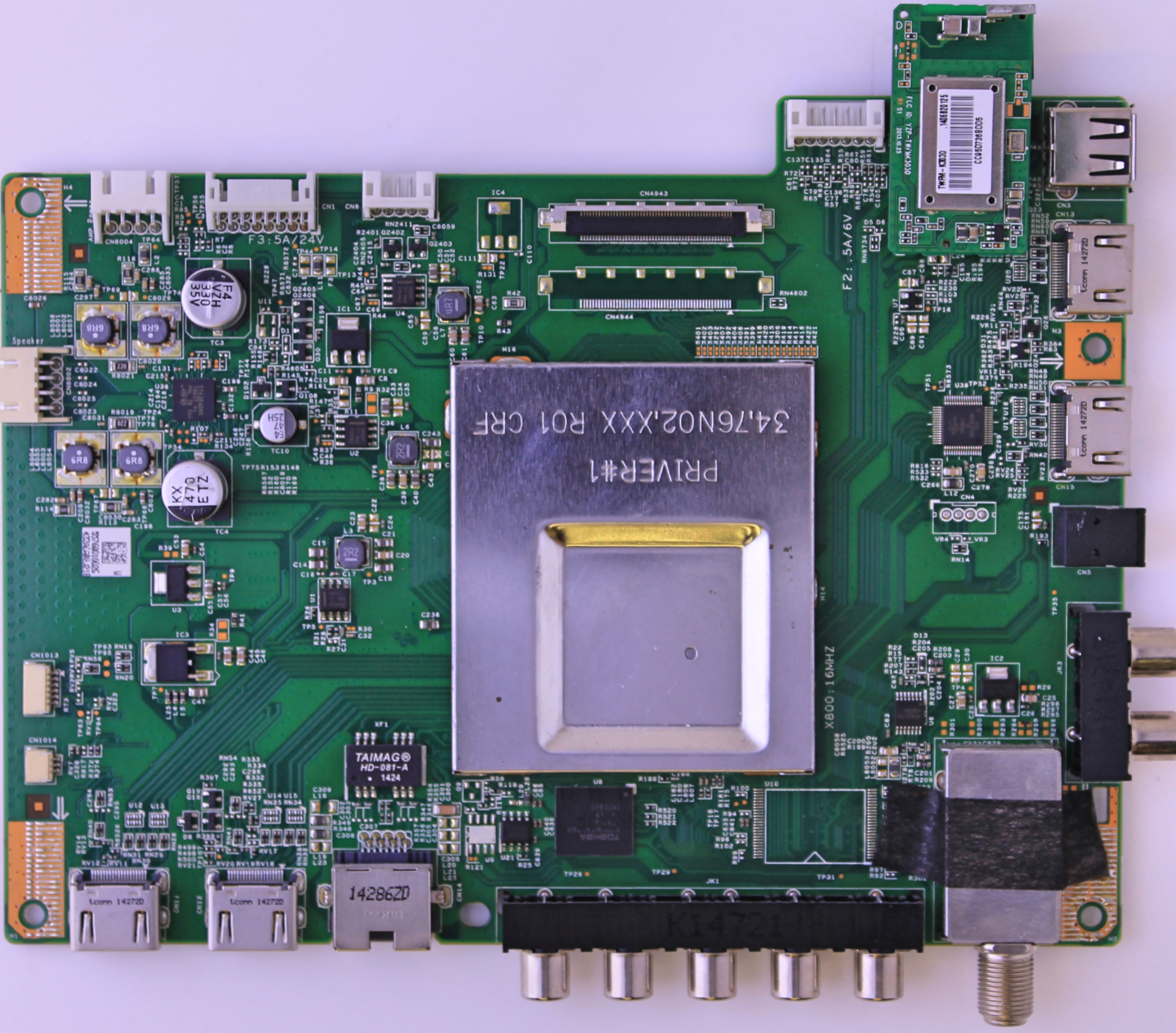 Vizio main board 91.76Q10.005G for TV model E550I-B2E serial LWZJPPDQ / LWJJPPDR