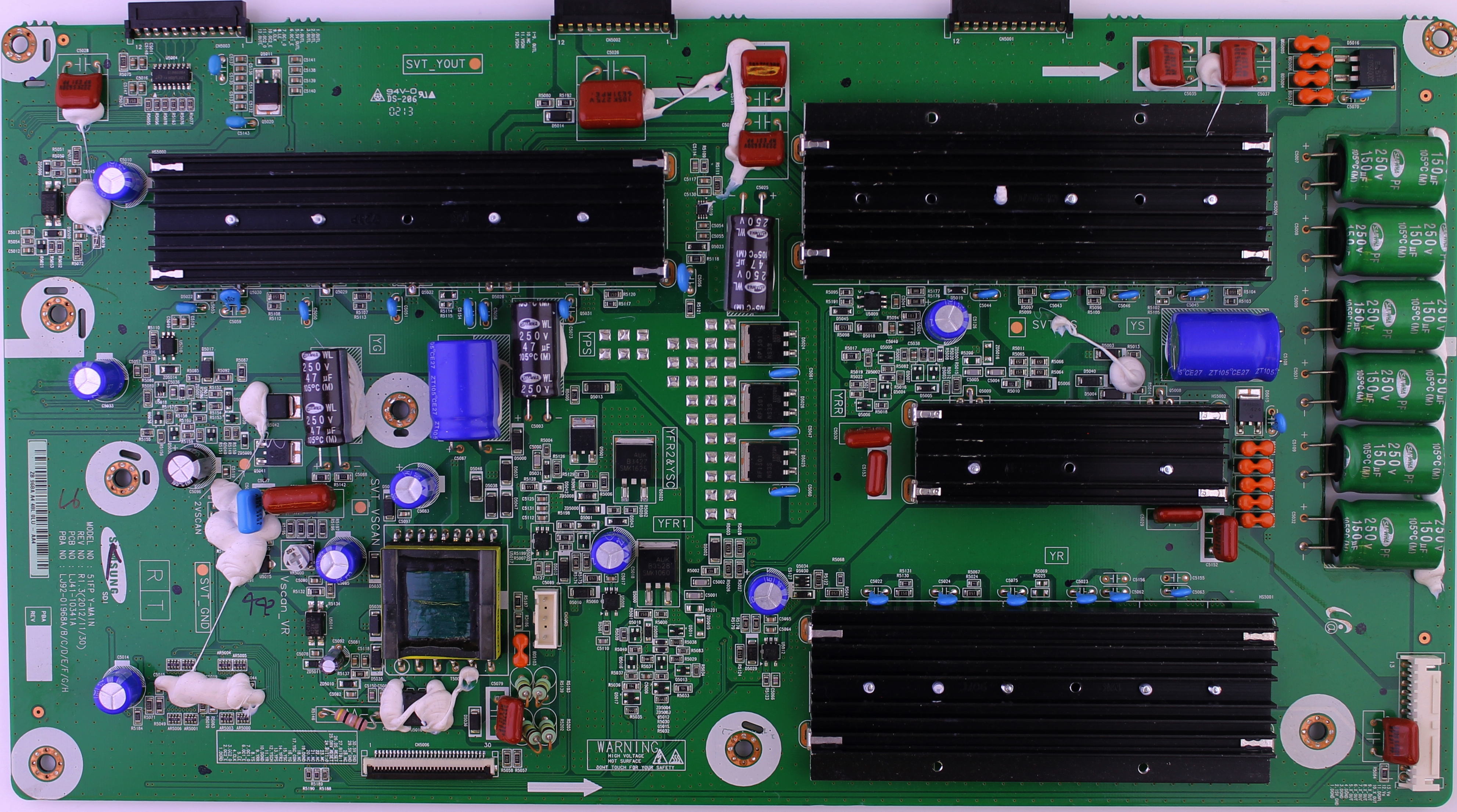LJ92-01968A Samsung sustain board for TV model PN51F8500AFXZA