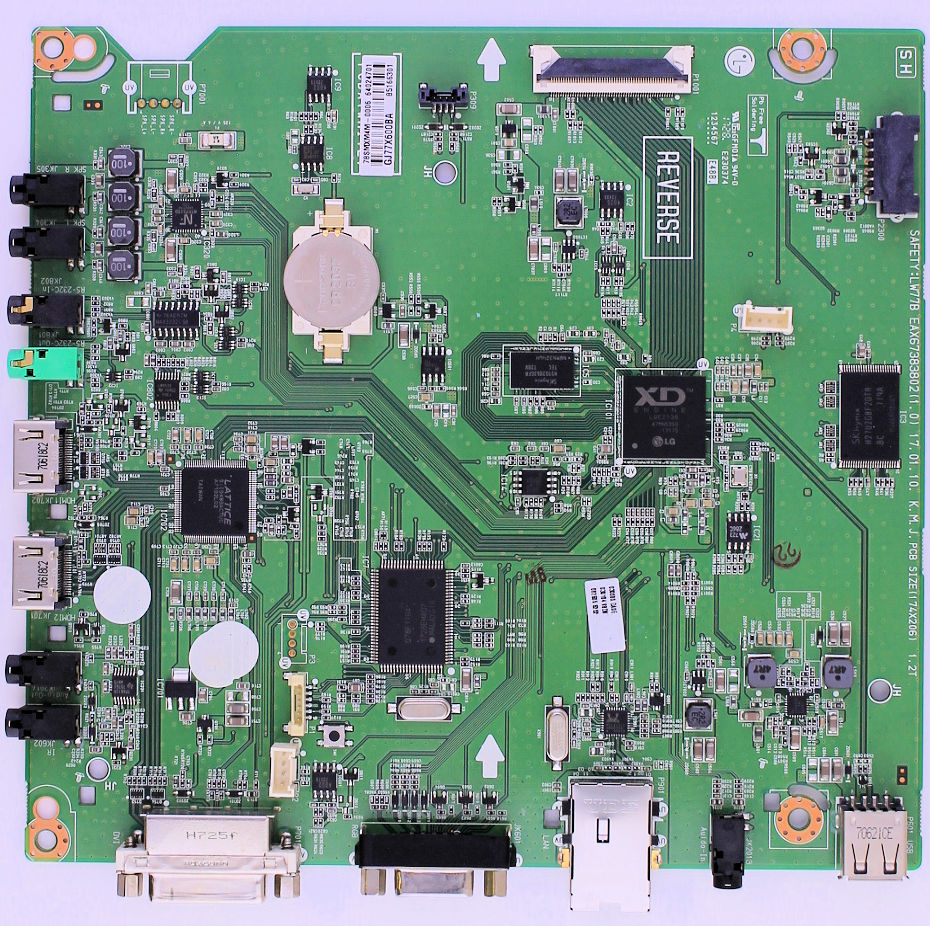 EBT64024701 LG main board for TV models 55SE3D-B, 55SM3C-B