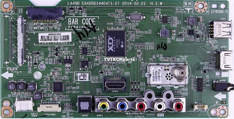 LG EBT63092612 Main Board for 42LB5600-UZ BUSDLJM