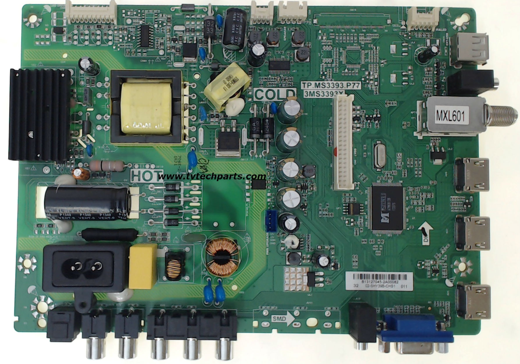 Sanyo TV Model DP32D53 Main Audio Video Power Supply Board Part Number 02-SHY39B-CHS1