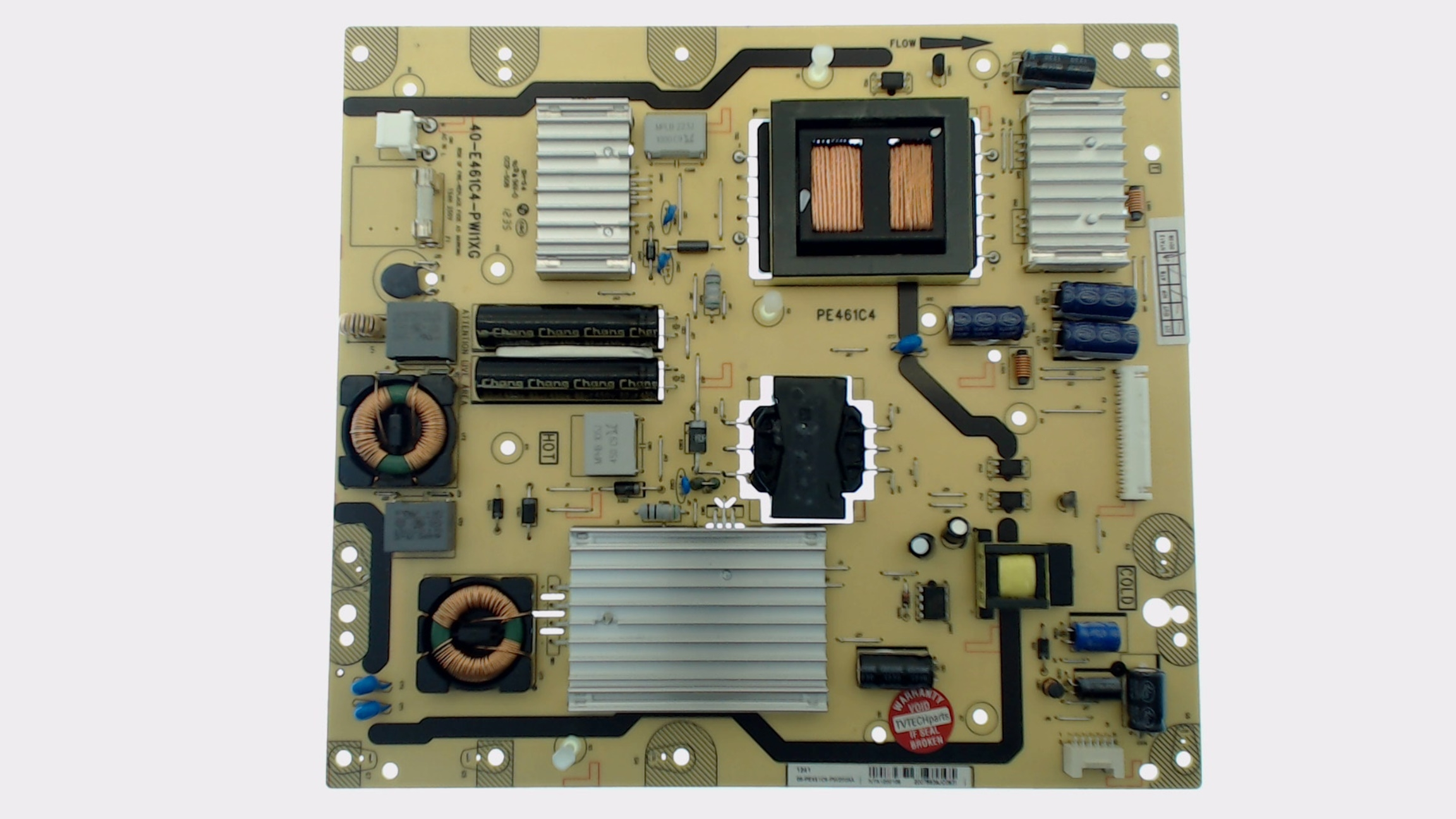 TCL TV Model LE55FHDF3300ZTATCAA Power Supply Board Part Number 08-PE461C4-PW200AA