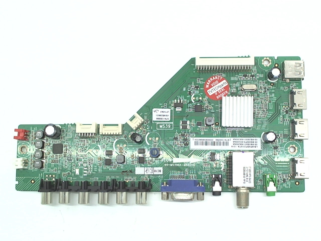 TCL TV Model LE48FHDF3310 Main Board Part Number 08-SS48DFN-OC400A