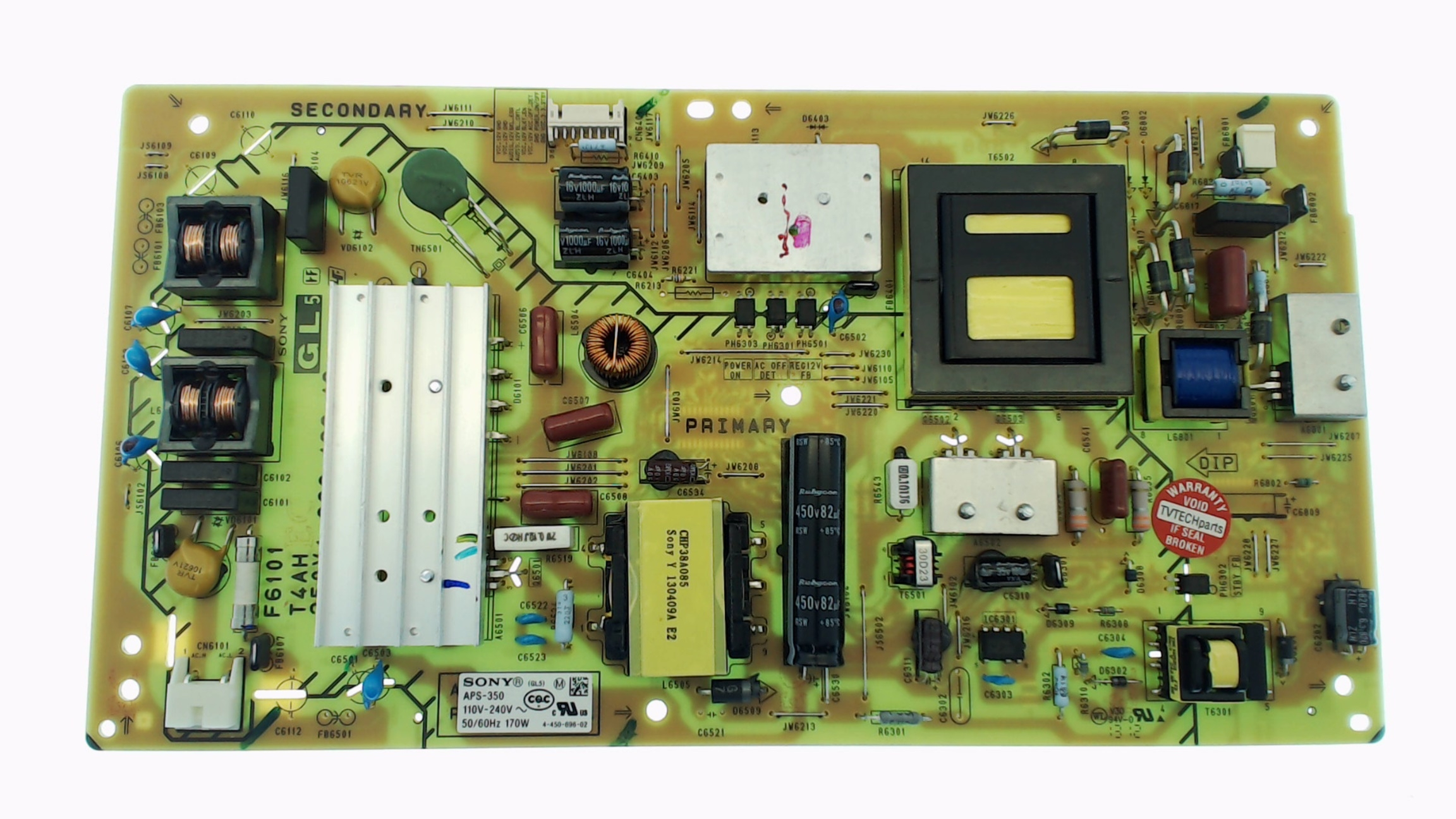 Sony TV Model KDL-46R453A Power Supply Board Part Number 1-474-488-11