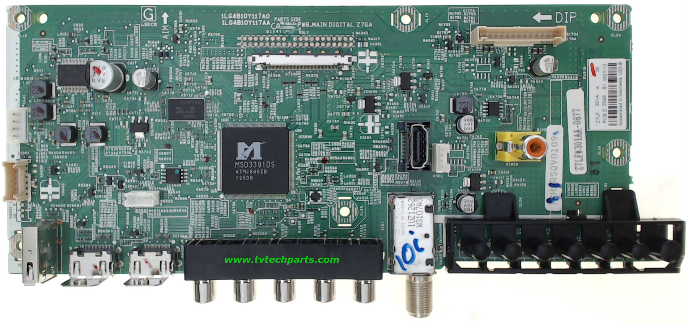 Sanyo Model DP42D23 Main Audio Video HDMI Tuner Board Part Number 1LG4B10Y117A0 Z7LF