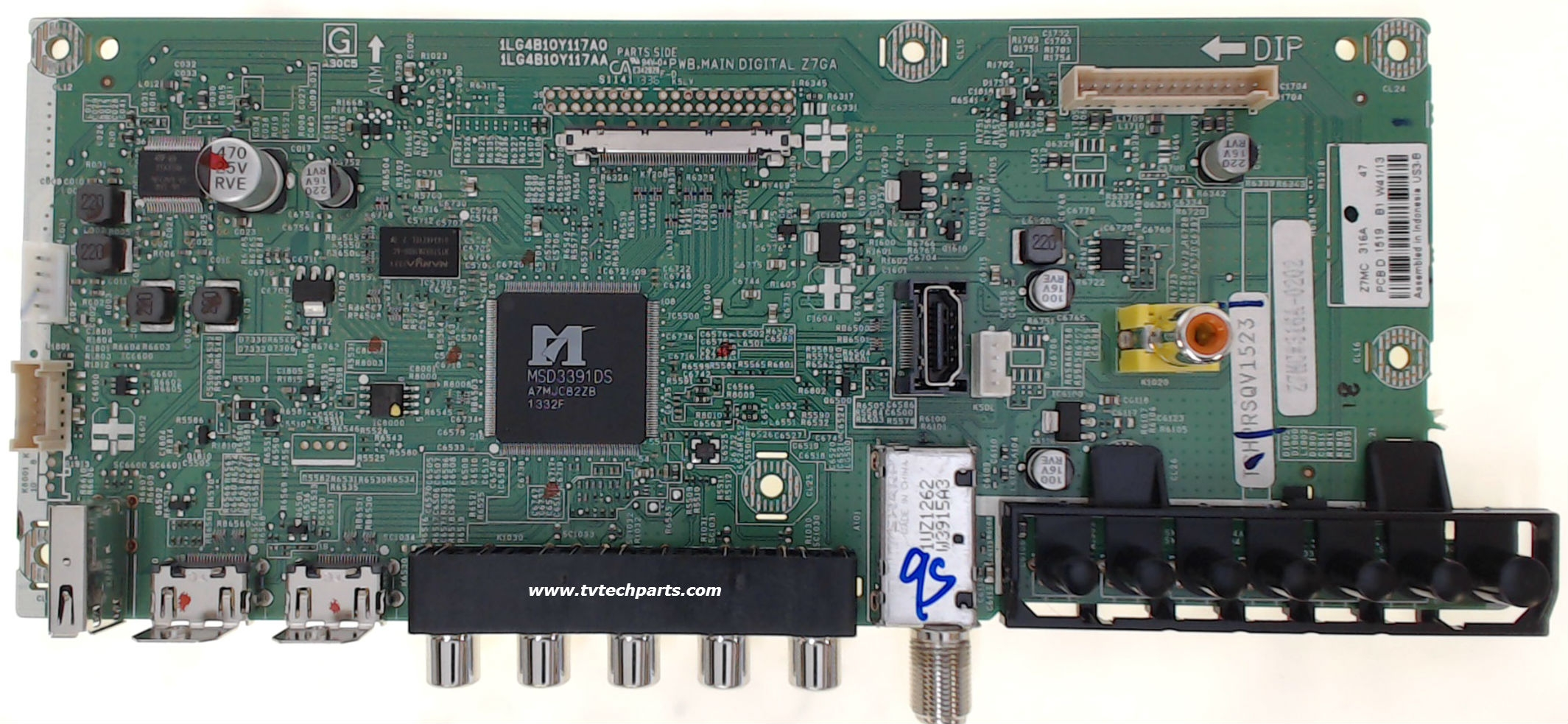 Sanyo TV Model DP55D33 Main Audio Video HDMI Tuner Board Part Number 1LG4B10Y117A0-Z7MC