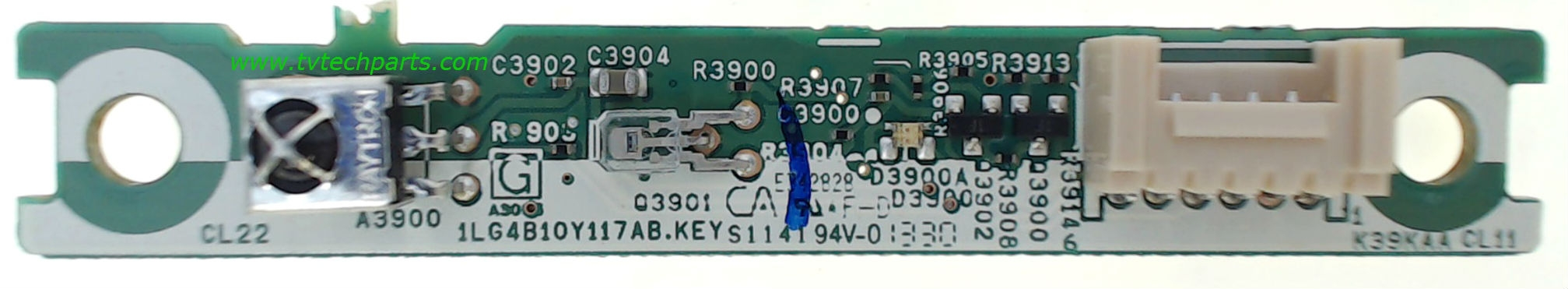 Sanyo Television Model DP42D23 Remote Control Receiver Board Part Number 1LG4B10Y117AB.KEY