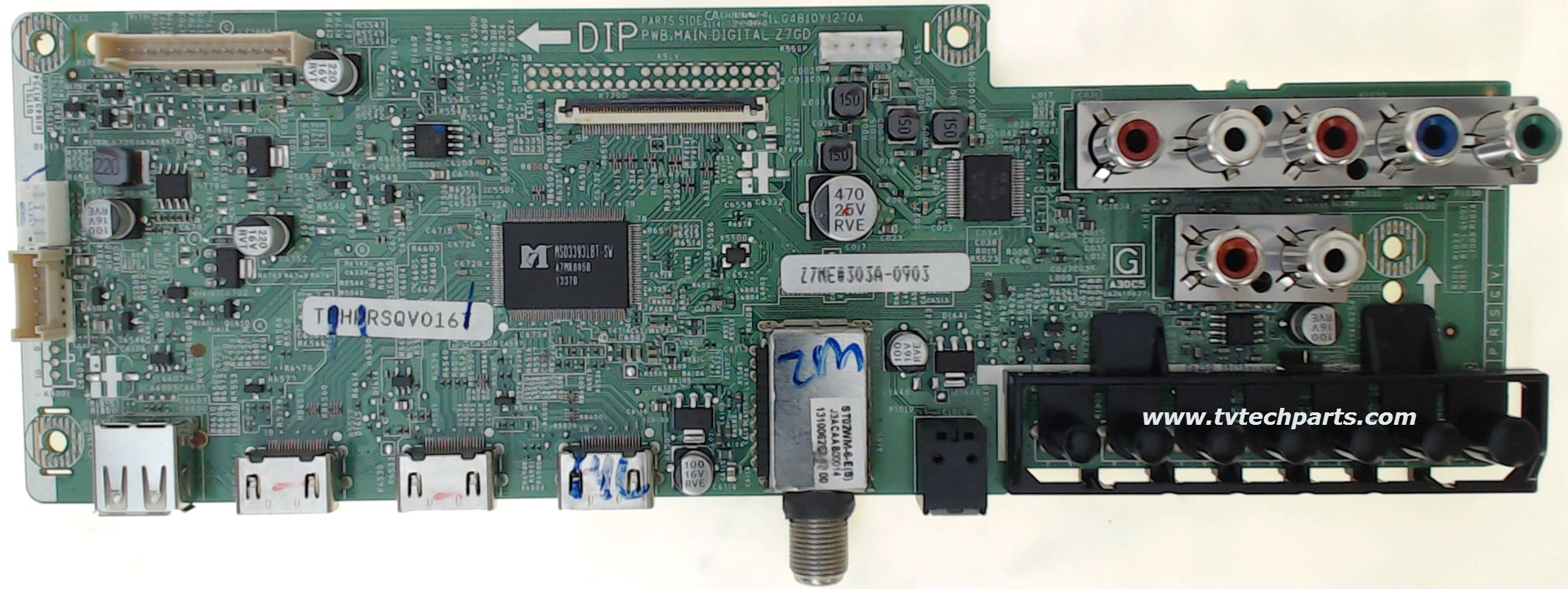 Sanyo TV Model DP55D33 Main Audio Video HDMI Tuner Board Part Number 1LG4B10Y117A0-Z7ME