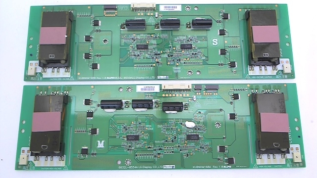 RCA TV Model 55LC55S240V69 Inverter Board Kit Part Number 6632L-0554A & 6632L-0555A