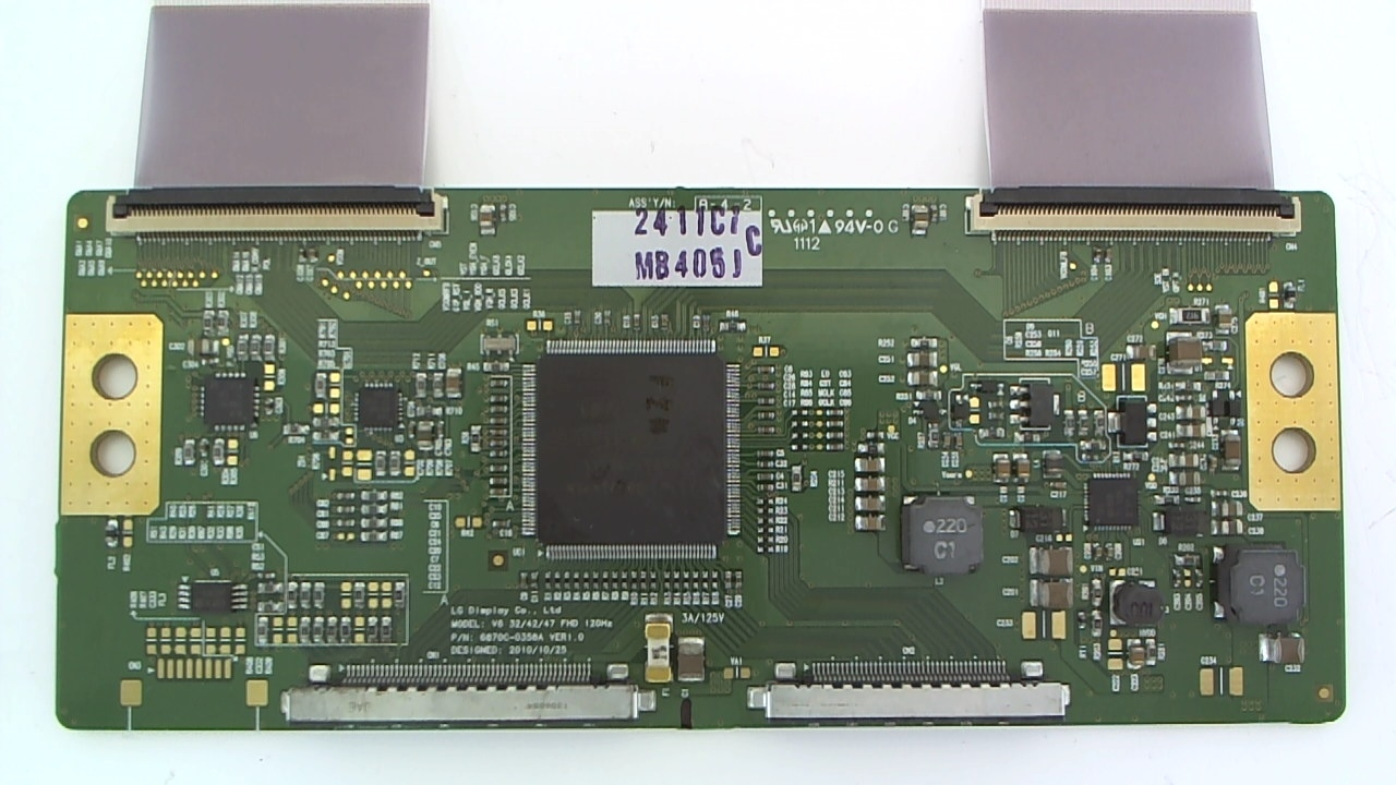 LG TV Model 47LW5600-UA T-Con Board Part Number 6871L-2411C