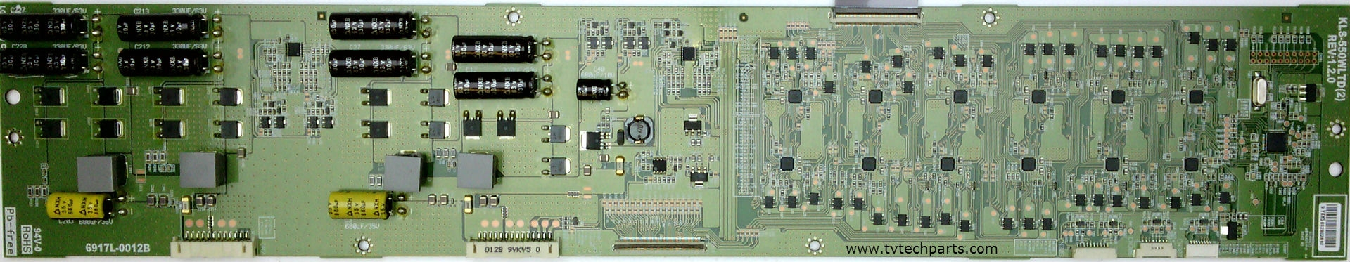 Vizio Model VF551XVT Inverter Board Part Number 6917L-0012B