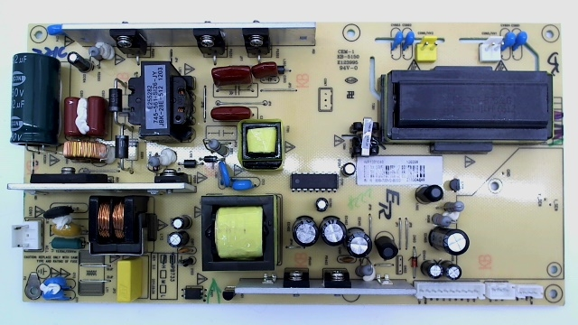 Coby TV Model TFDVD3299 Power Supply Board Part Number 899-722V2-B003