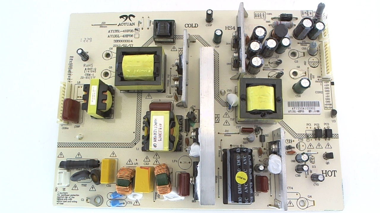 Sceptre TV Model X409BV-FHD Power Supply Part Number AY135L-4HF05