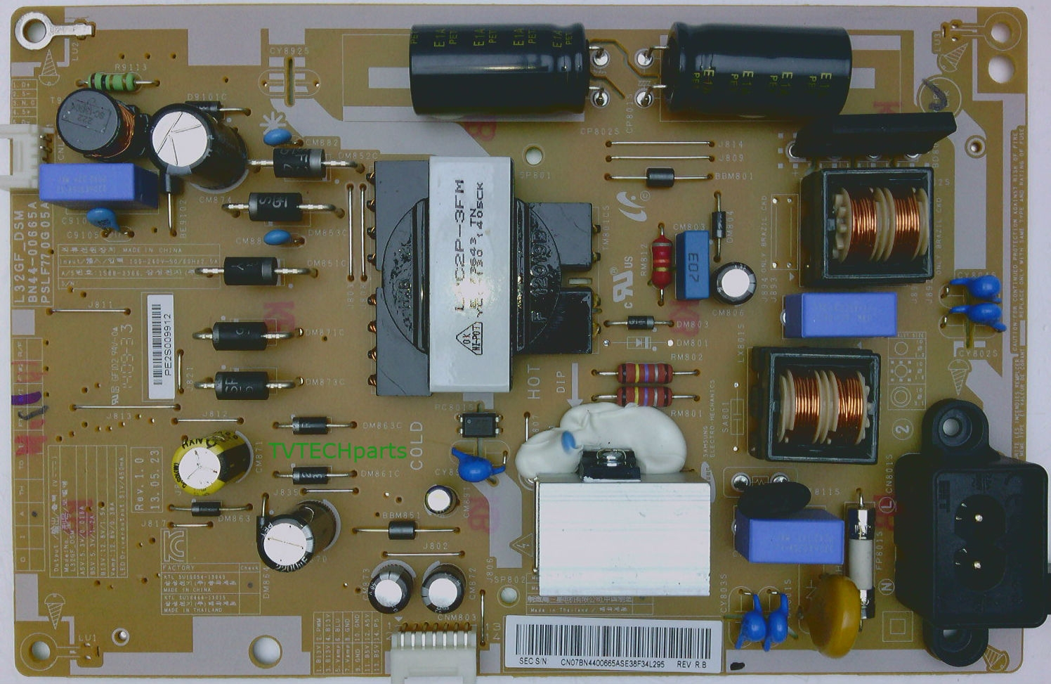 Bn44 00665a Power Supply Board For Samsung Un32eh6000fxza Tv Parts Diagram Quick View