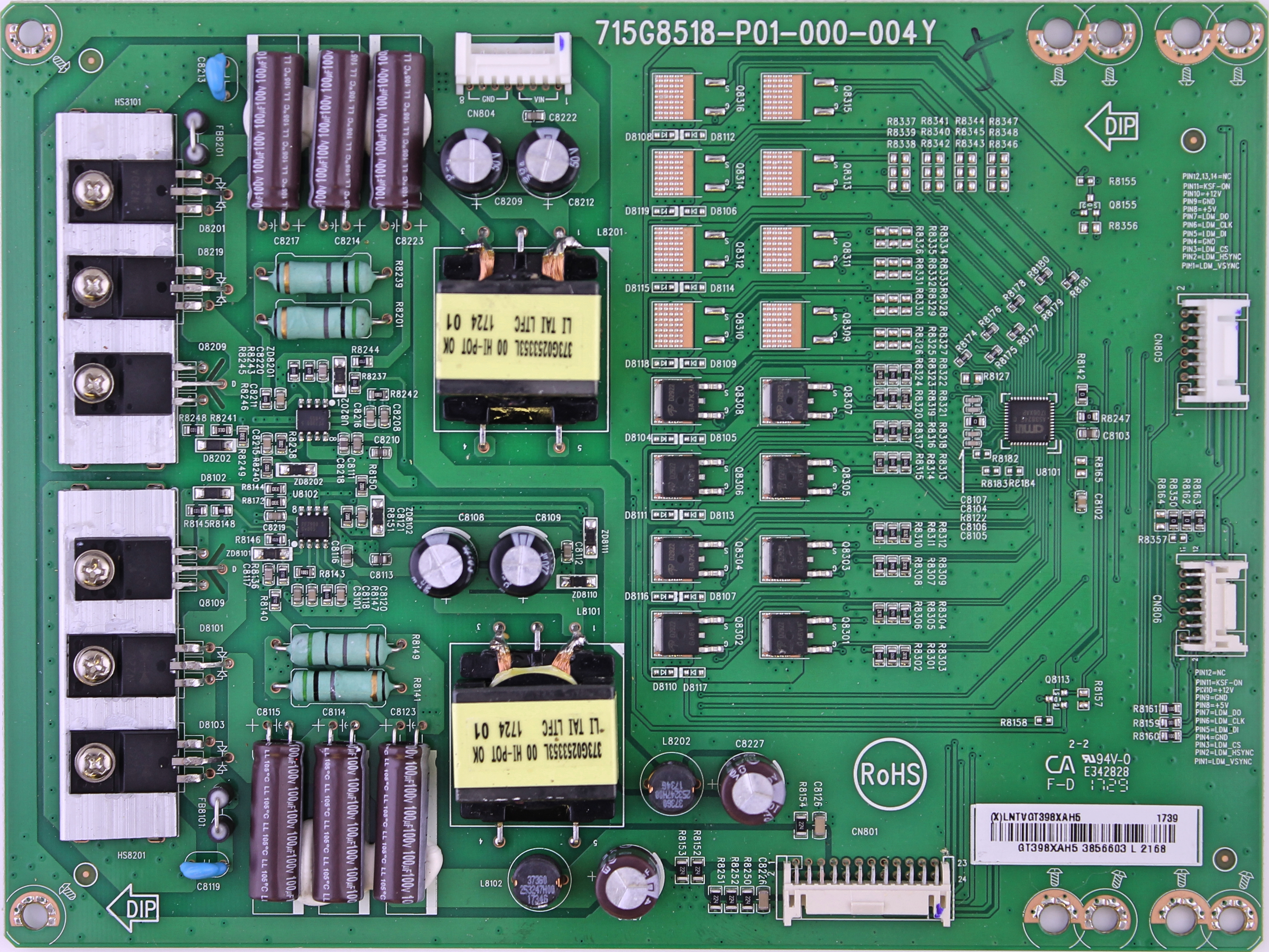 LNTVGT398XAH5 Vizio LED driver board for TV model E75-E1